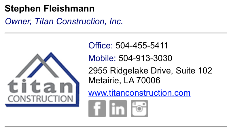 Titan Construction email signature