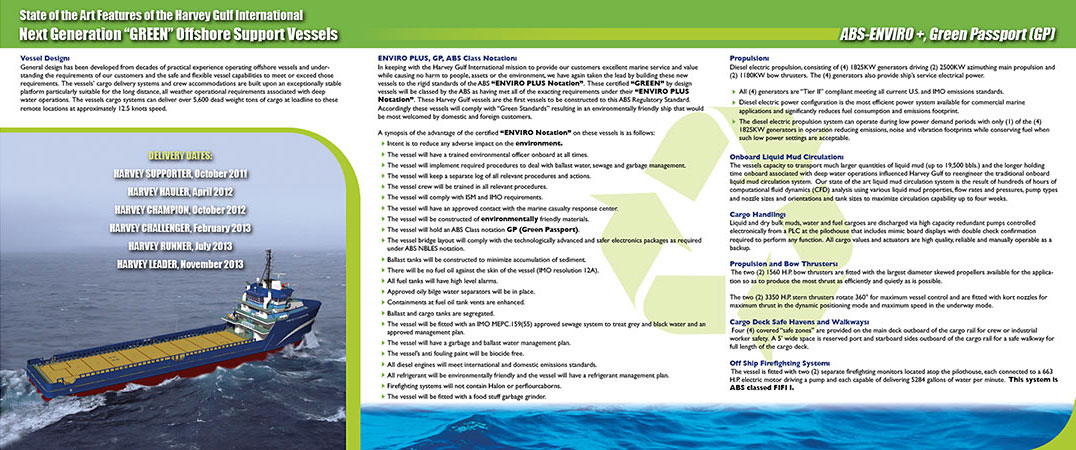 Harvey Gulf brochure inside