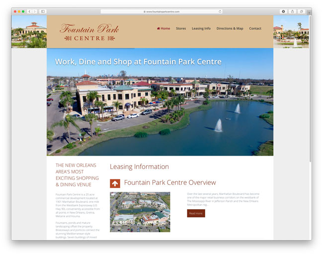 Fountain Park Centre website