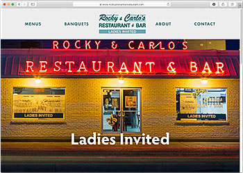 Rocky & Carlo's Restaurant & Bar website
