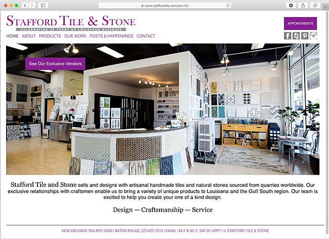 Stafford Tile website