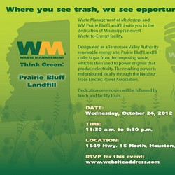 Waste Management Gas-to-Energy Open House